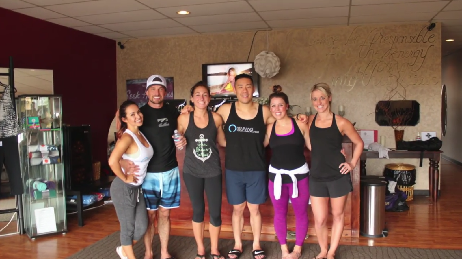 Our Team Had a Great Private Hot Yoga Class