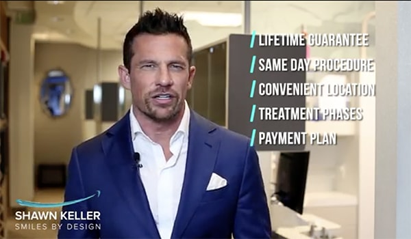 A preview of Dr. Keller talking about how he makes an alternative to cosmetic dentures in Kirkland, WA affordable. This image will lead you to a video of Dr. Shawn Keller.
