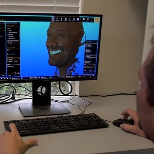 Technology visual of the Face Hunter
