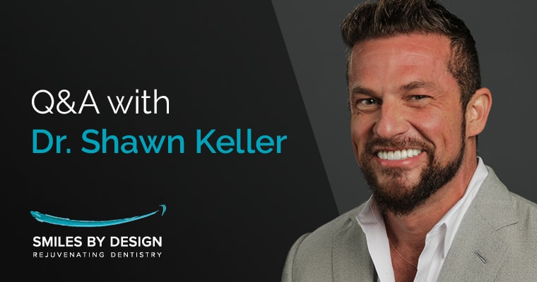 "Dr. Keller's portrait with text, ""Q&A with Dr. Shawn Keller"""